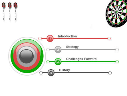 Darts And Target PowerPoint Template Slide 3