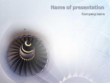 Construction: Turbojet Engine PowerPoint Template #02008