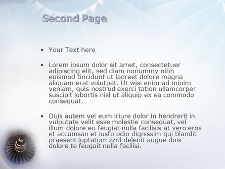 Turbojet Engine PowerPoint Template, Slide 2, 02008, Construction — PoweredTemplate.com