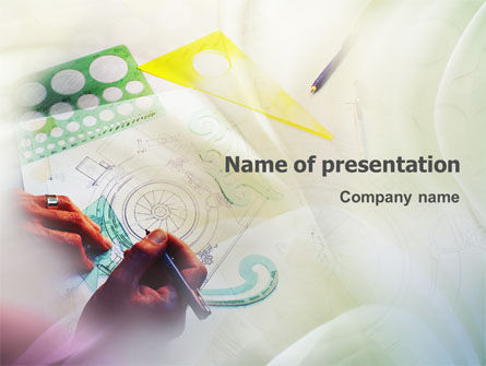 Technical Design PowerPoint Template, 02009, Construction — PoweredTemplate.com
