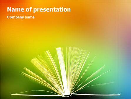 Education & Training: Book PowerPoint Template #02010