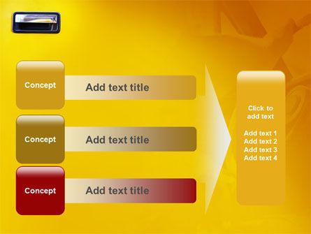 Steering Wheel In Reflection Of Car Doors PowerPoint Template Slide 12