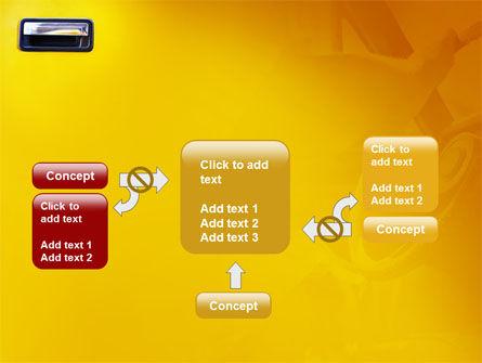 Steering Wheel In Reflection Of Car Doors PowerPoint Template Slide 13