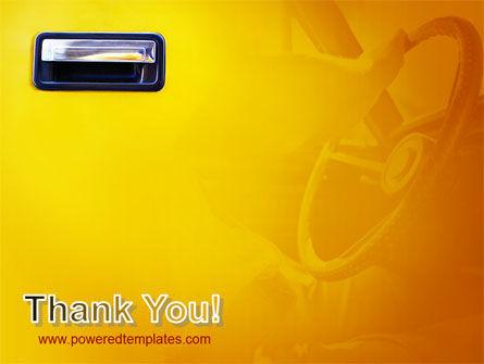 Steering Wheel In Reflection Of Car Doors PowerPoint Template Slide 20