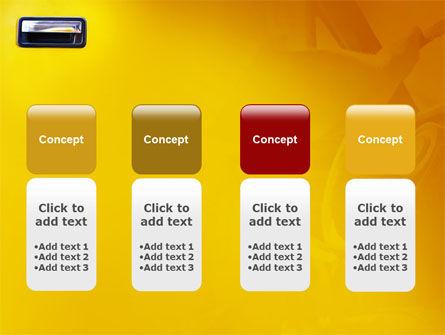 Steering Wheel In Reflection Of Car Doors PowerPoint Template Slide 5