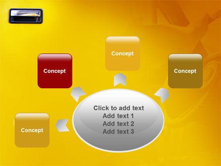 Steering Wheel In Reflection Of Car Doors PowerPoint Template Slide 7