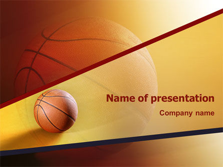 Before Basketball Game PowerPoint Template, 02016, Sports — PoweredTemplate.com
