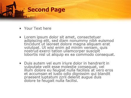 Oil Well PowerPoint Template Slide 2