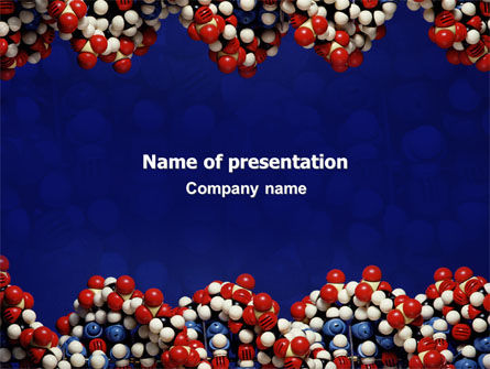 Technology and Science: Molecular Modeling PowerPoint Template #02019