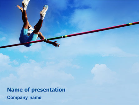 Sports: High Jump PowerPoint Template #02020