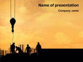 Construction: Modèle PowerPoint de industrie du bâtiment #02021