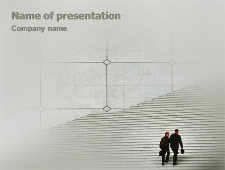 Stairway PowerPoint Template, 02023, Careers/Industry — PoweredTemplate.com