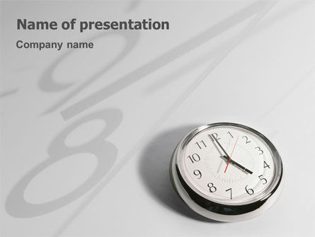 Consulting: Five O'clock PowerPoint Template #02024