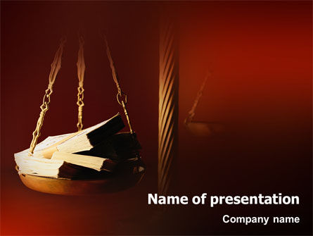 Legal: Corruption PowerPoint Template #02025