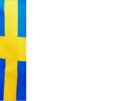 Swedish Flag PowerPoint Template, Slide 3, 02026, Flags/International — PoweredTemplate.com
