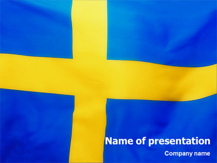 Flags/International: Swedish Flag PowerPoint Template #02026