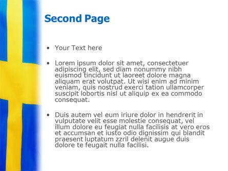 Swedish Flag PowerPoint Template, Slide 2, 02026, Flags/International — PoweredTemplate.com