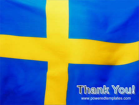 Swedish Flag PowerPoint Template Slide 20