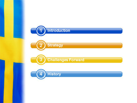 Swedish Flag PowerPoint Template Slide 3