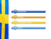 Swedish Flag PowerPoint Template#3