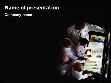 Case History PowerPoint Template, 02028, Medical — PoweredTemplate.com