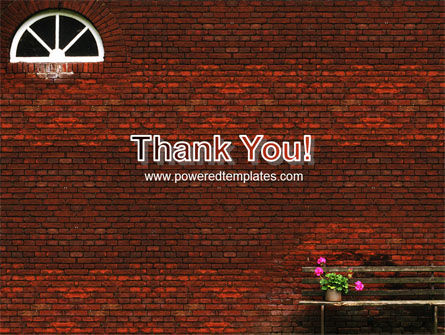Brick Wall PowerPoint Template Slide 20