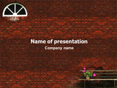 General: Brick Wall PowerPoint Template #02029