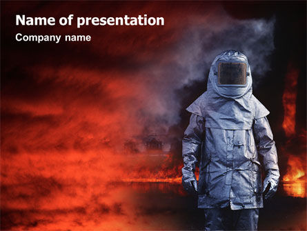 Deep Fire PowerPoint Template, 02032, Nature & Environment — PoweredTemplate.com