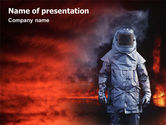 Nature & Environment: Deep Fire PowerPoint Template #02032