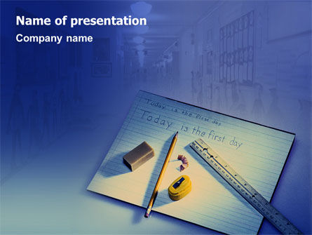 Education & Training: School Day PowerPoint Template #02036