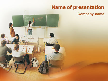 Education & Training: Education In College PowerPoint Template #02037