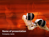 Sports: Fencing PowerPoint Template #02038