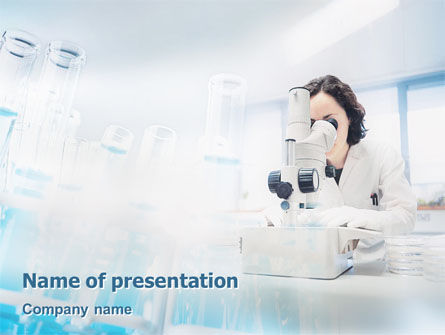 Laboratory Microscope PowerPoint Template, Backgrounds | 02039 ...