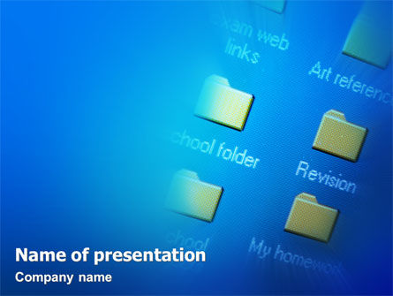 Education & Training: Templat PowerPoint Folder File #02043