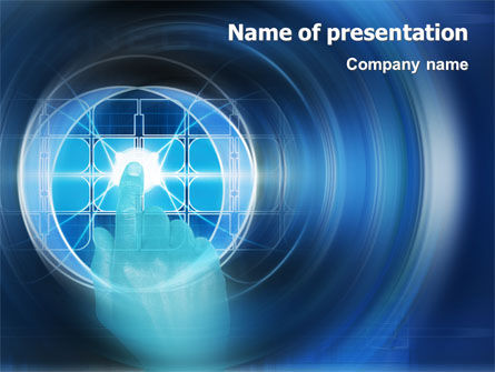 Technology and Science: Cybernetics PowerPoint Template #02046