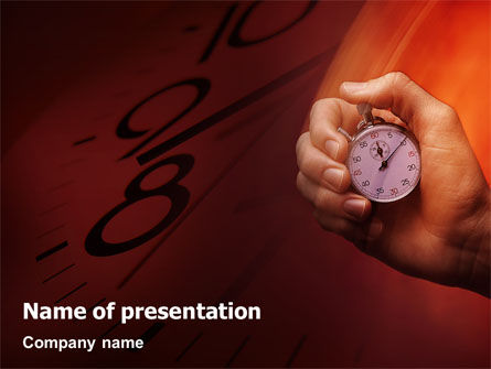 Consulting: Stopwatch PowerPoint Template #02051