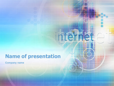 Abstract/Textures: Internet Space PowerPoint Template #02053