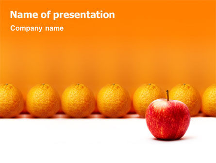 Standing Out PowerPoint Template, 02054, Business Concepts — PoweredTemplate.com