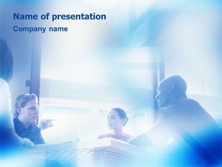 Teamwork Meeting PowerPoint Template, 02055, People — PoweredTemplate.com