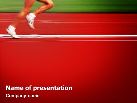 Race PowerPoint Template, 02056, Sports — PoweredTemplate.com