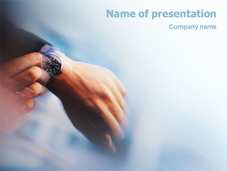 Business Concepts: Hand Watch PowerPoint Template #02060