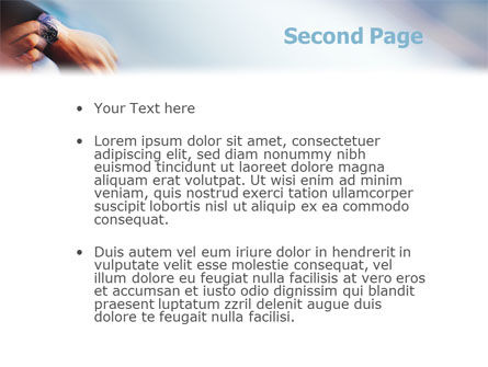 Hand Watch PowerPoint Template Slide 2