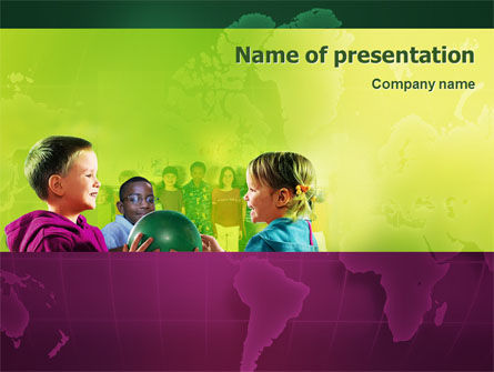 Children In Kindergarten PowerPoint Template
