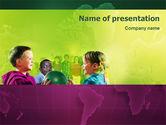 Education & Training: Children In Kindergarten PowerPoint Template #02062