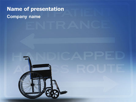 Medical: Handicapped PowerPoint Template #02064