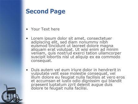 Handicapped PowerPoint Template, Slide 2, 02064, Medical — PoweredTemplate.com