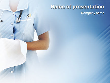 Nurse PowerPoint Template, 02067, Medical — PoweredTemplate.com
