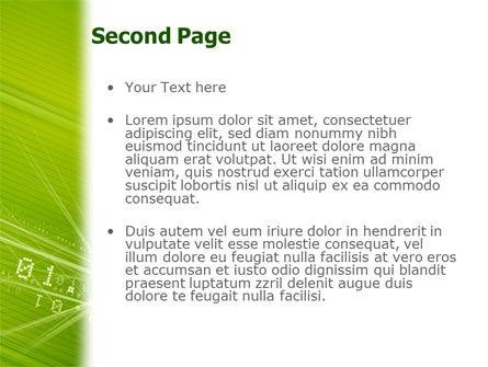 Binary Green PowerPoint Template, Slide 2, 02070, Telecommunication — PoweredTemplate.com