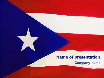 Flag of Puerto Rico PowerPoint Template, 02074, Flags/International — PoweredTemplate.com