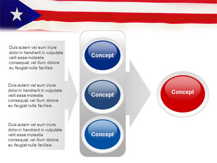 Flag of Puerto Rico PowerPoint Template Slide 11
